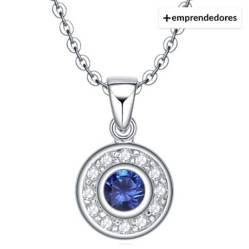 Collar Elegant Blue Plata Italiana