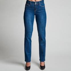 TENTATION - Jeans Clásico Semi-Recto Tiro Alto