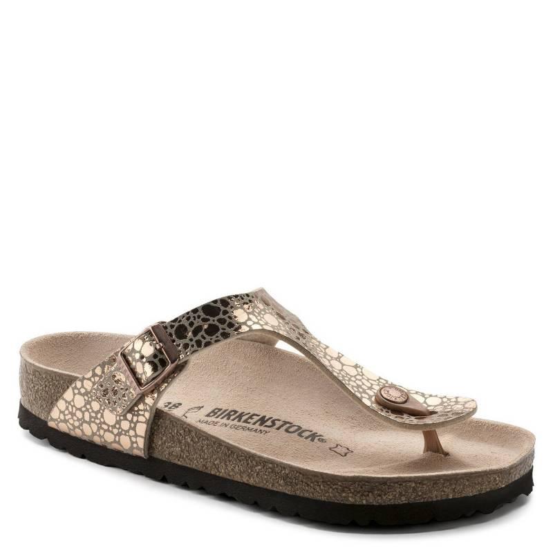 Birkenstock - Sandalia Mujer Gizeh Metallic Stones Copper