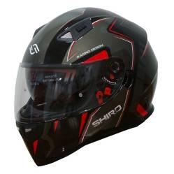 SHIRO HELMETS - Casco Moto Shiro SH-881 Montecarlo Negro