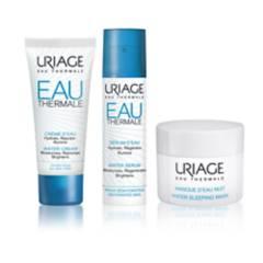 URIAGE - Set Eau Thermal: Crema agua 40 ml + Serum 10 ml + máscara agua noche 15 ml