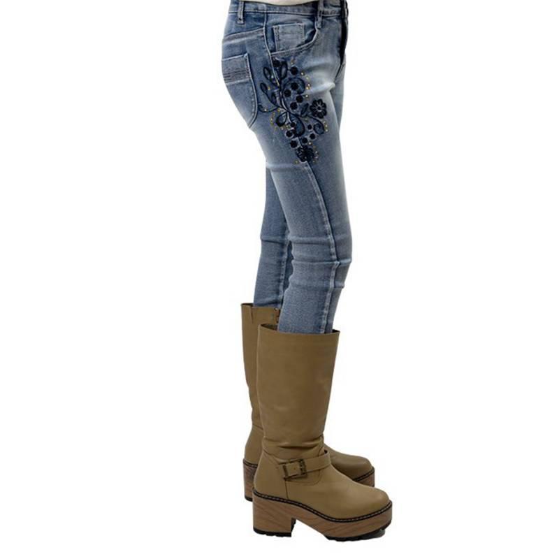 Exception - Jeans Bordado y Lentejuelas Niña