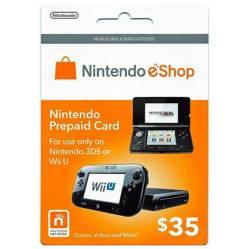 Tarjeta Nintendo E-Shop $35