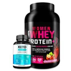 S/M - Pack 100% Women Whey + Keto Weight Loss