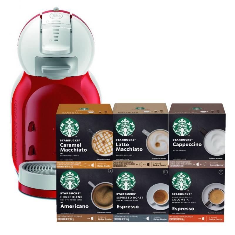 STARBUCKS - Cafetera MiniMe + Starbucks Todos Sabores X6 Cajas