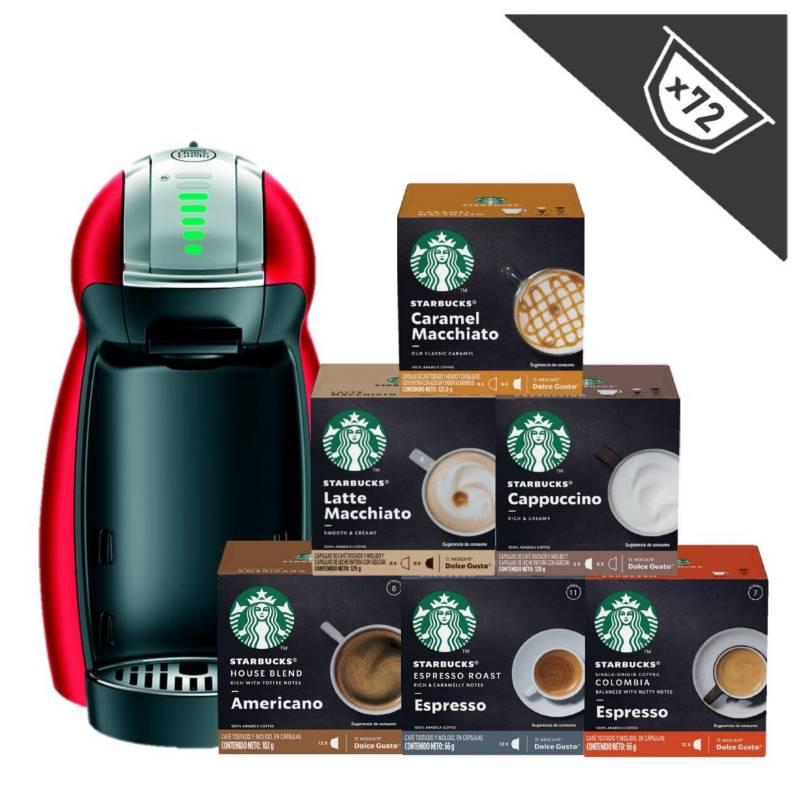 STARBUCKS - Cafetera Genio + Capsulas Starbucks X6 Cajas