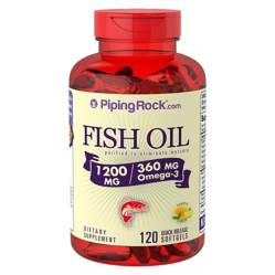 Omega 3 Fish Oil 1200 Mg Sabor Limón x 120 Softgel