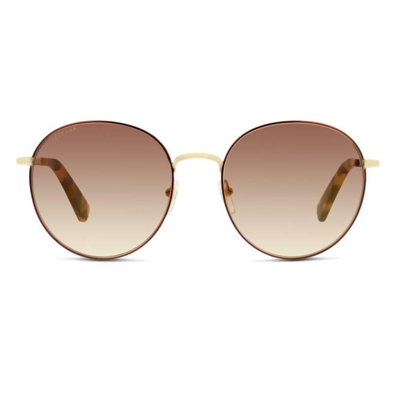 LONGCHAMP - Anteojos de sol Hombre Gold Round Ov