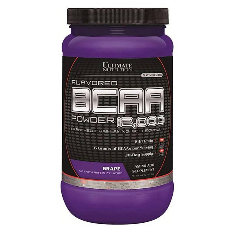 Ultimate Nutrition - Aminoacido Bcaa 12.000 60 Servicios Uva