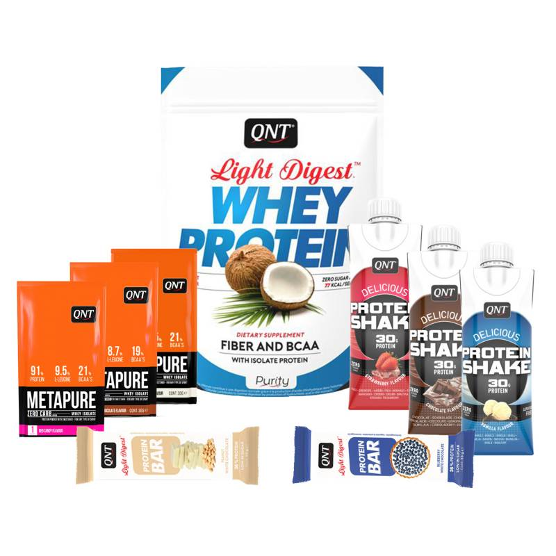 QNT - Pack Welly Box Proteína Light Digest Coconut