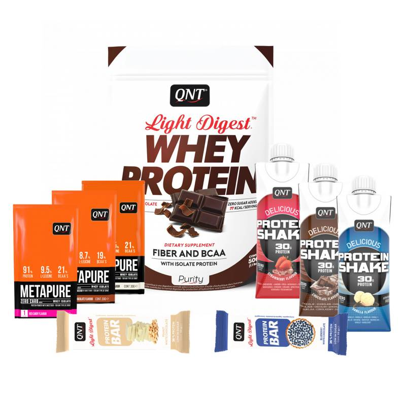 QNT - Pack Welly Box Proteína Light Digest Chocolate