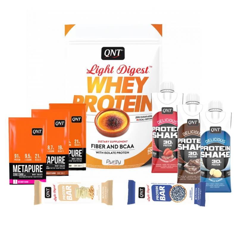 QNT - Pack Welly Box Proteína Light Digest Creme Brule