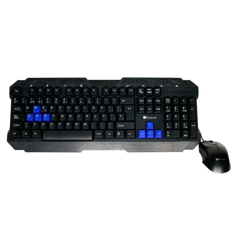 Green-E - Kit teclado gamer más Mouse USB