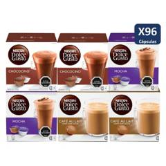 NESCAFE DOLCE GUSTO - Dolca Gusto Capsulas Chocolate Sabores X6Cajas