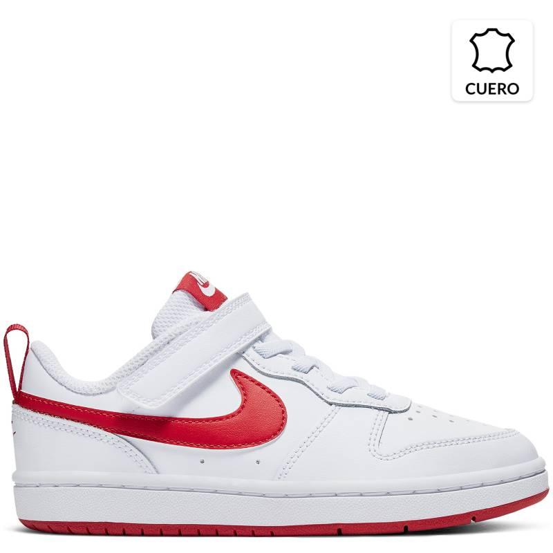 Nike - Court Borough Low2 Ps Zapatilla Urbana Niño Blanca