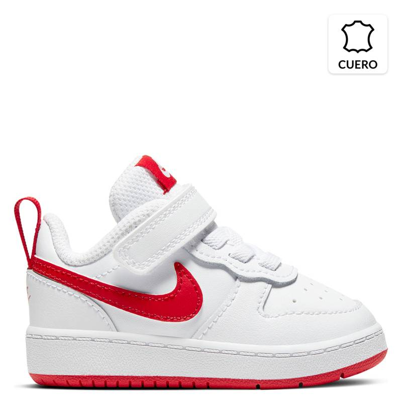 Nike - Court Borough Low 2 (TDV) Zapatilla Niño Cuero Blanca