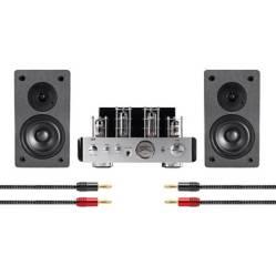 Monoprice Amplificador de Tubos Híbrido Stereo
