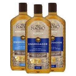 TIO NACHO - Pack Engrosador 2 Shampoo + 1 Acondicionador