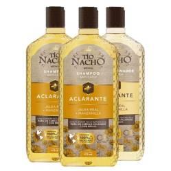 TIO NACHO - Pack Aclarante 2 Shampoo+ 1 Acond. 415