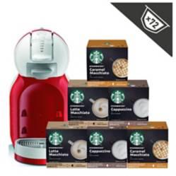 NESCAFE DOLCE GUSTO - Cafetera Mini Me + Starbucks Lacteados X6 Cajas
