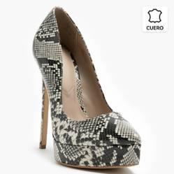 Zapato Formal Mujer Animal Print