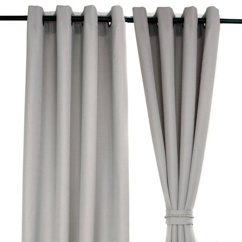 MASEL - Set de Cortinas Barbara 8 Piezas Gris 140 x 225 cm