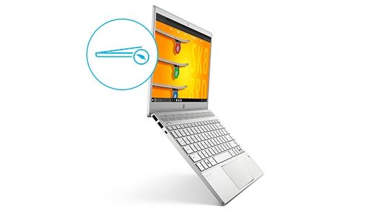 notebook hp pavilion toque metalico