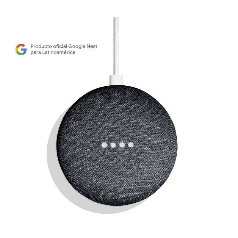 Google - Google Home Mini Gris Carbon
