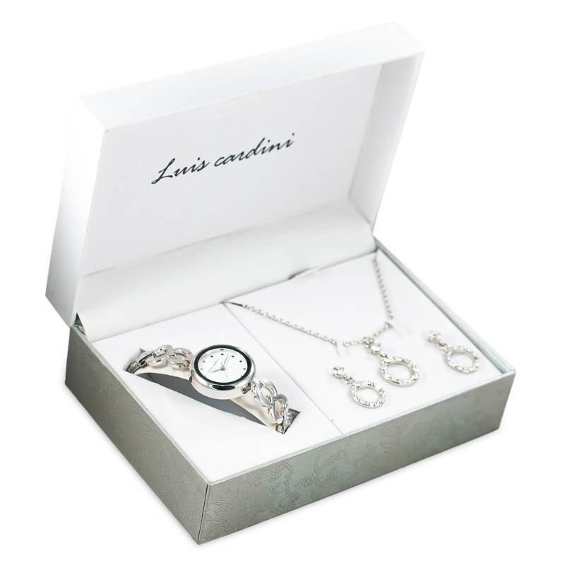 LUIS CARDINI - Set de Joyas Reloj + Collar + Aretes