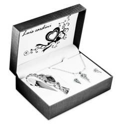 Set de Joyas Reloj + Collar + Aretes