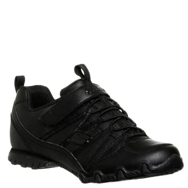 Skechers - Zapatilla Niña Cuero Negra