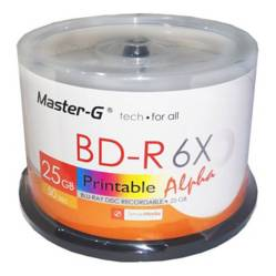 Master-G - Pack 50 Discos Blu-Ray 25Gb Imprimibles Master-G