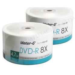 Master-G - Pack 100 Dvd-R Master-G con Logo 8X 4.7Gb