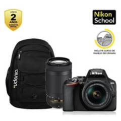Nikon - Cámara Nikon D3500  18-55Mm  70-300Mm  Mochila