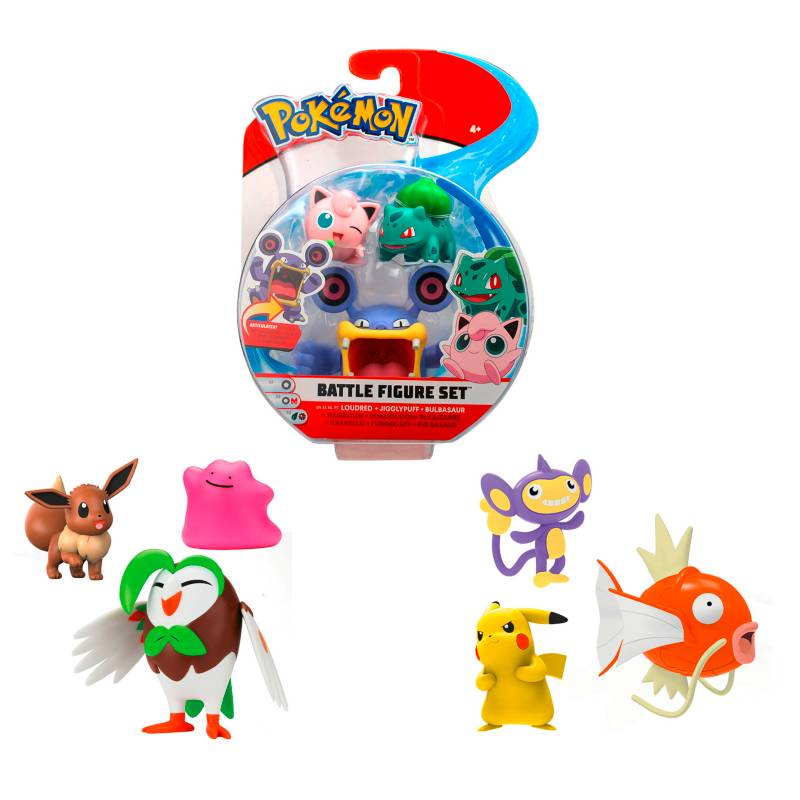 POKEMON - Pack 3 Figuras De 5 A 8 Cm. Pokemon
