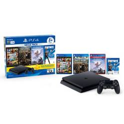 Consola PS4 Slim 1TB Mega Pack 6 (3 juegos + Cupón Fornite + 3 meses PS Plus)