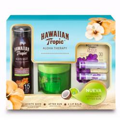 HAWAIIAN TROPIC - Hawaian Tropic F 15 + After Sun Lime Coco+ 2 Labiales