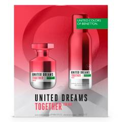 BENETTON - Set Benetton United Dreams Together EDT 80 ml + DEO 150 ml - Perfume Mujer