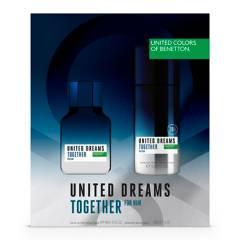 Benetton - Benetton U.D. Together For Him EDT 100ml + Desodorante 150ml - Perfume Hombre