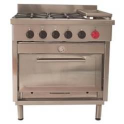 Cocina 4 Platos, 1 Horno, Plancha Churrasquera.