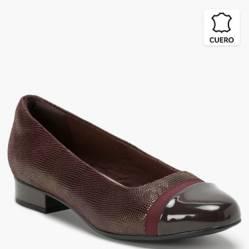 Clarks - Zapato Casual Mujer Burdeo