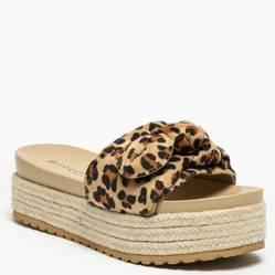 Sandalia Mujer Roseton Leopardo