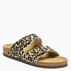 Sandalia Mujer Corcho Leopardo