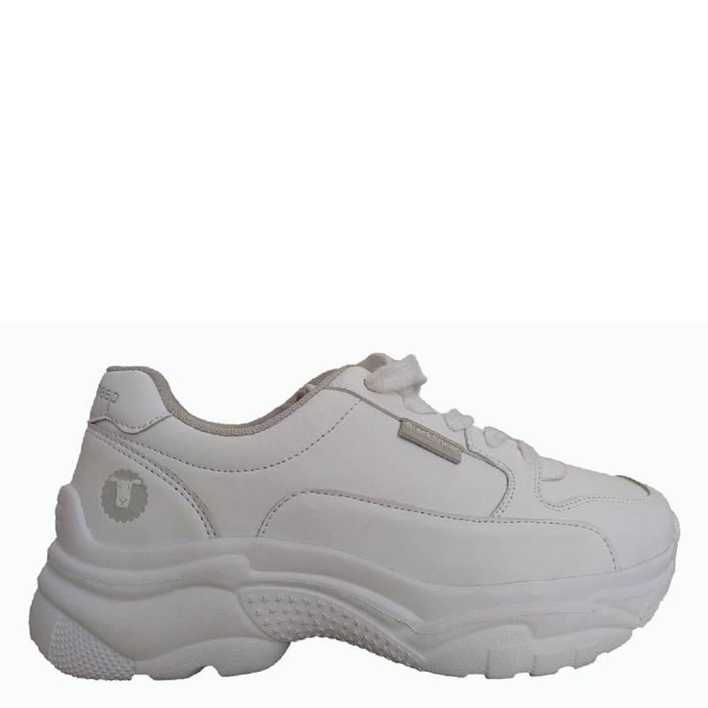 Zapatilla Mujer Escolar Chunky Blanca