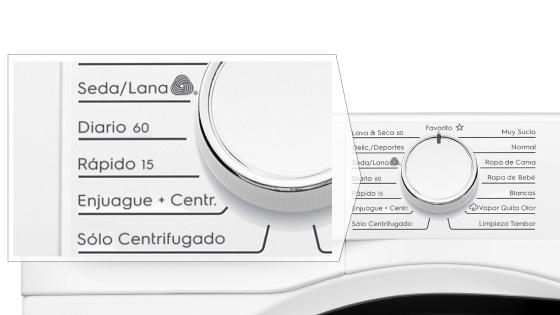 Time Efficient Programs con la lavadora secadora Perfect Care 8WD