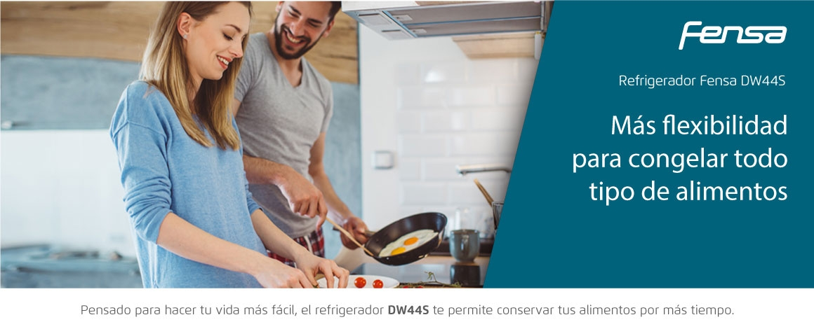 Más flexibilidad para congelar todo tipo de alimentos con el refrigerador Fensa DW44S