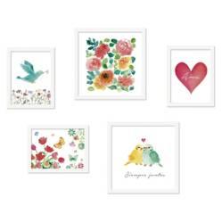 DECORACIÓN PAJARITO - Collage De Cuadros ¿Flores Y Amor¿