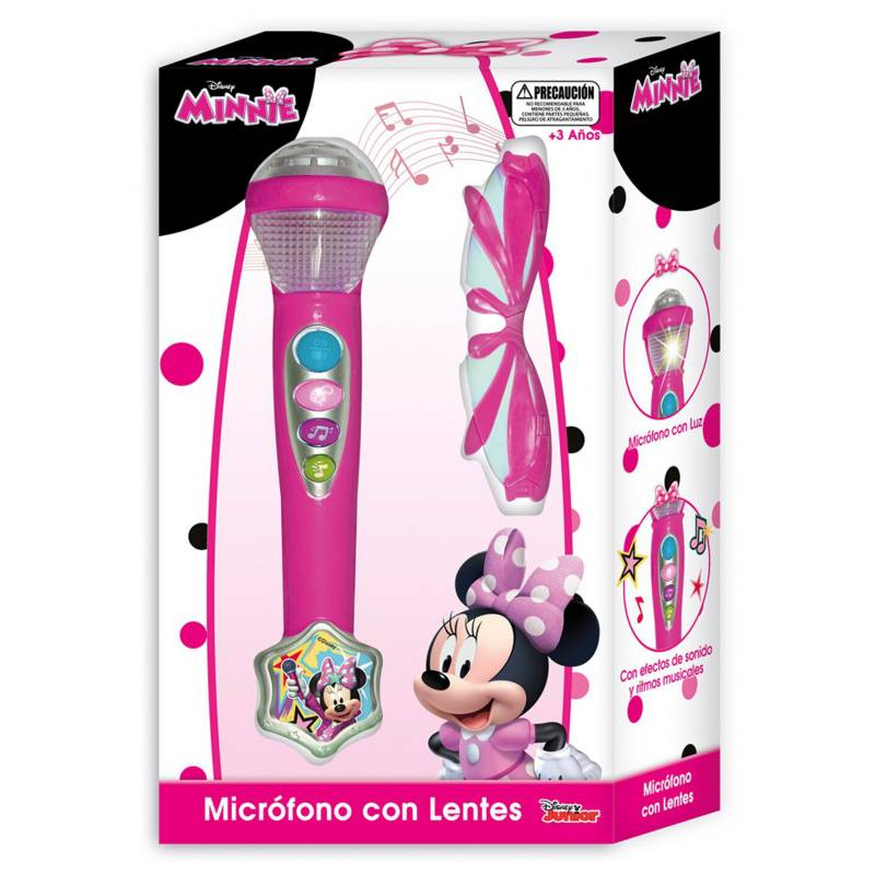 Disney - Microfono con Lentes en Caja Minnie