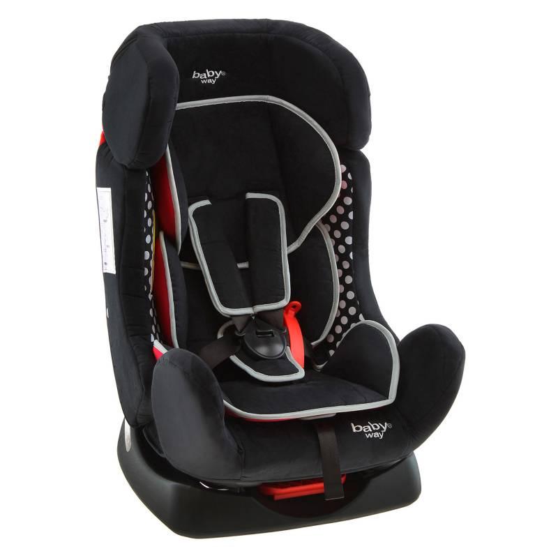 Baby Way - Butaca de Auto Baby Way Reclinable Bw-742 Negra/Bc