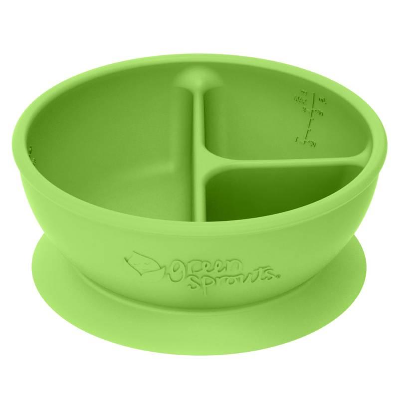 GREEN SPROUTS - Bowl Divisorio y Adherente Verde